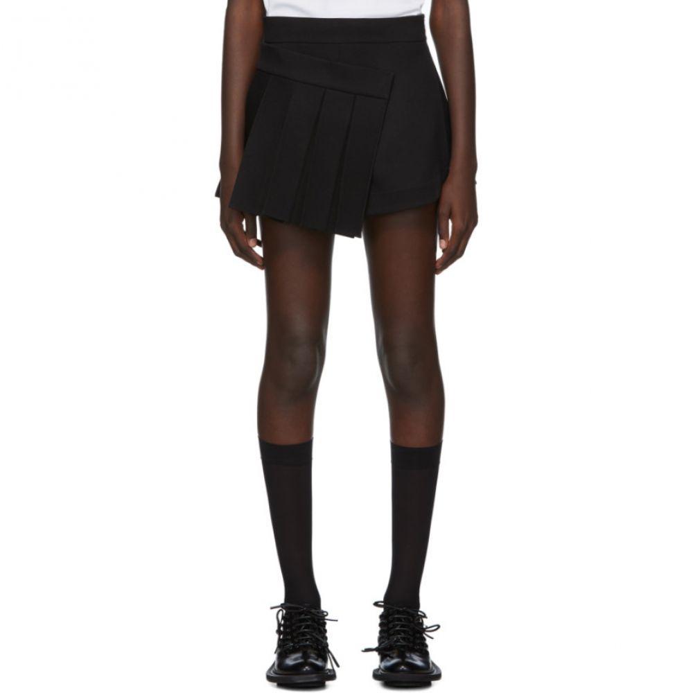 シュシュトン Shushu/Tong レディース スカート ミニスカート【SSENSE Exclusive Black Pleats Skort】Black