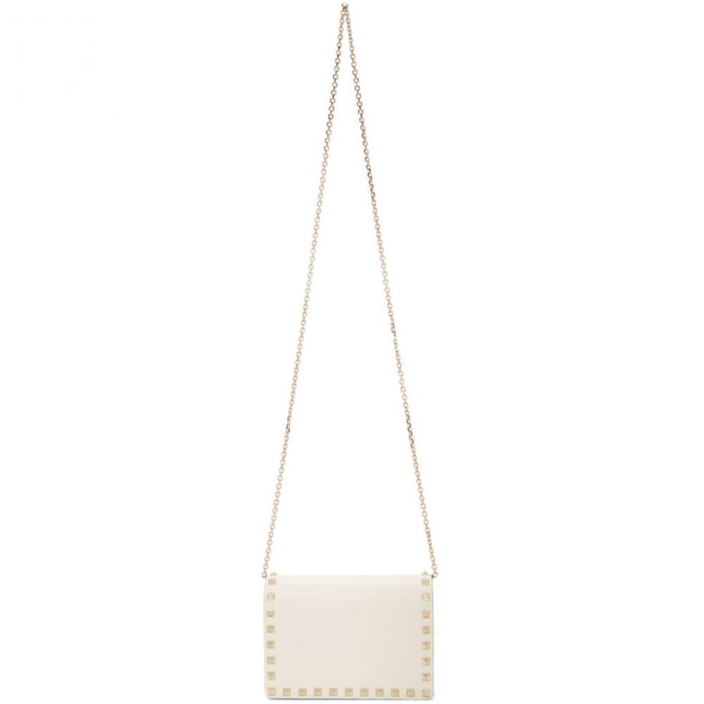 ヴァレンティノ Valentino レディース バッグ【White Garavani Mini Rockstud Bag】Light ivory