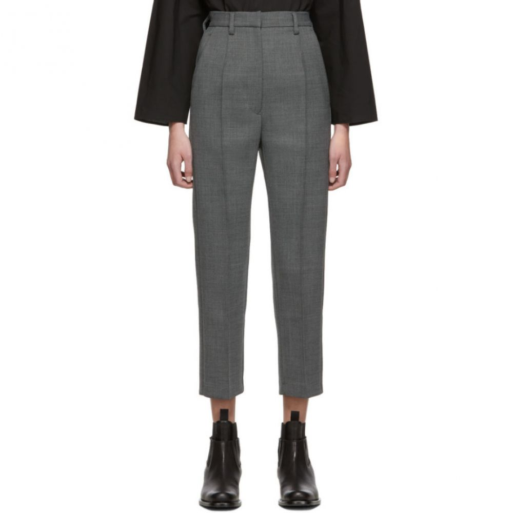 メゾン マルジェラ MM6 Maison Margiela レディース ボトムス・パンツ【Grey Wool Trousers】Dark grey