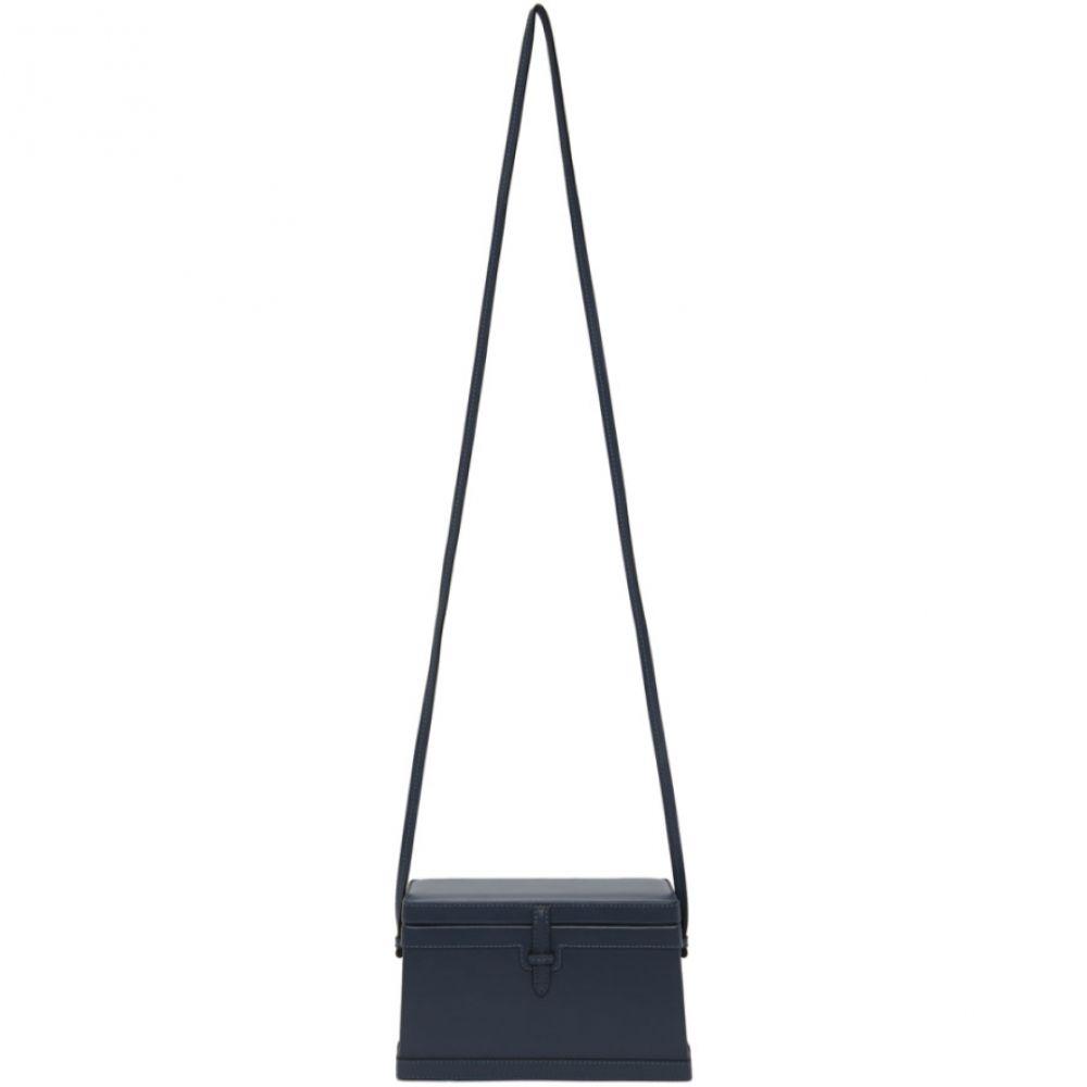 ハンティング シーズン Hunting Season レディース バッグ【Blue Leather Square Trunk Bag】Denim