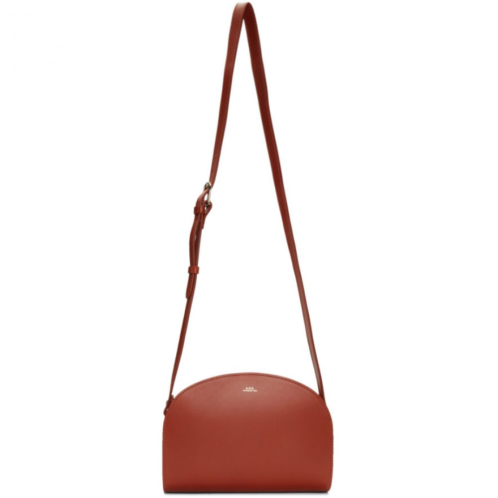 アーペーセー A.P.C. レディース バッグ【Burgundy Half-Moon Bag】Brandy
