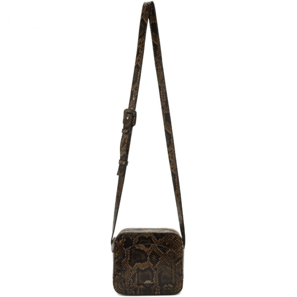 アーペーセー A.P.C. レディース バッグ【Brown Snake Louisette Bag】Dark chestnut brown