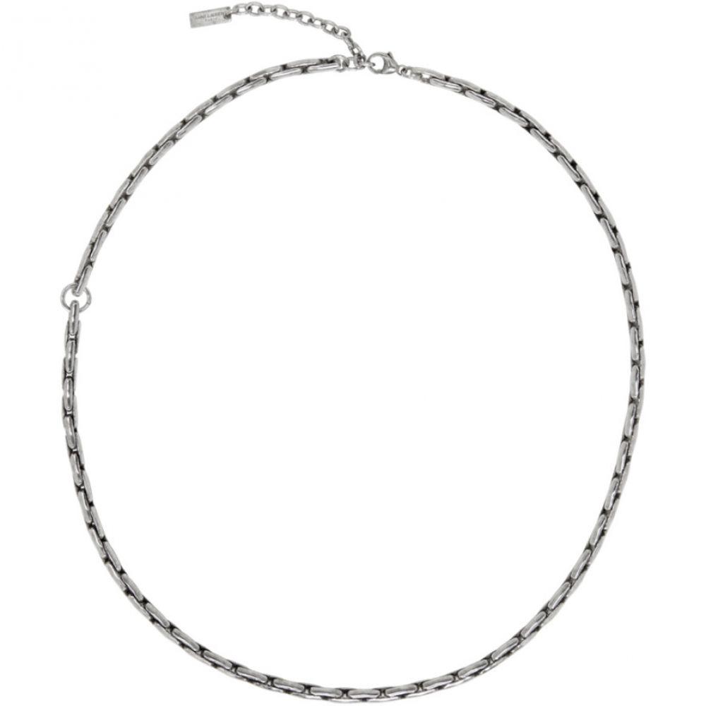イヴ サンローラン Saint Laurent メンズ ジュエリー・アクセサリー ネックレス【Silver Ovale Necklace】Oxidized silver