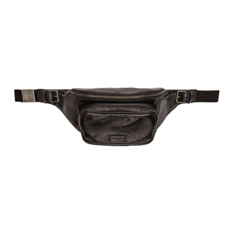 イヴ サンローラン Saint Laurent メンズ バッグ【Black Scott Body Bag】Nero/Nero