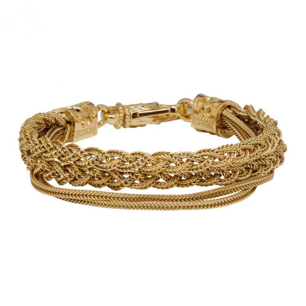 エマニュエレ ビコッキ Emanuele Bicocchi メンズ ジュエリー・アクセサリー ブレスレット【Gold Braided Bracelet】Gold