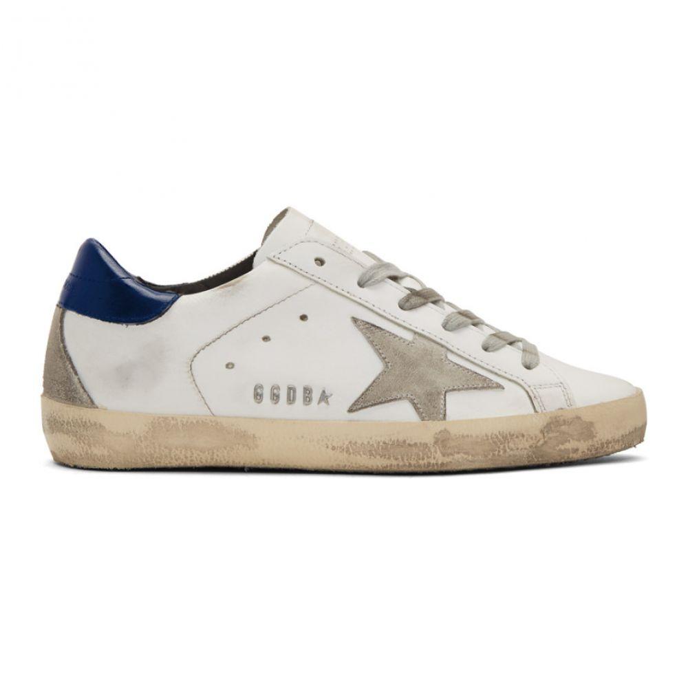 ゴールデン グース Golden Goose レディース シューズ・靴 スニーカー【White & Navy Superstar Sneakers】White/Blue/Cream