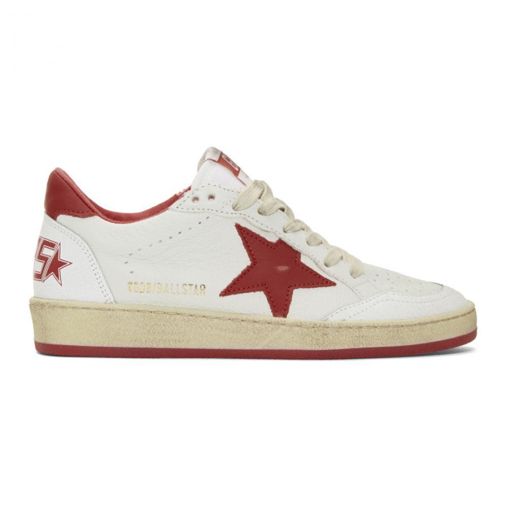 Goose スニーカー【White ゴールデン Golden Sneakers】White/Strawberry シューズ・靴 レディース Ball Star グース