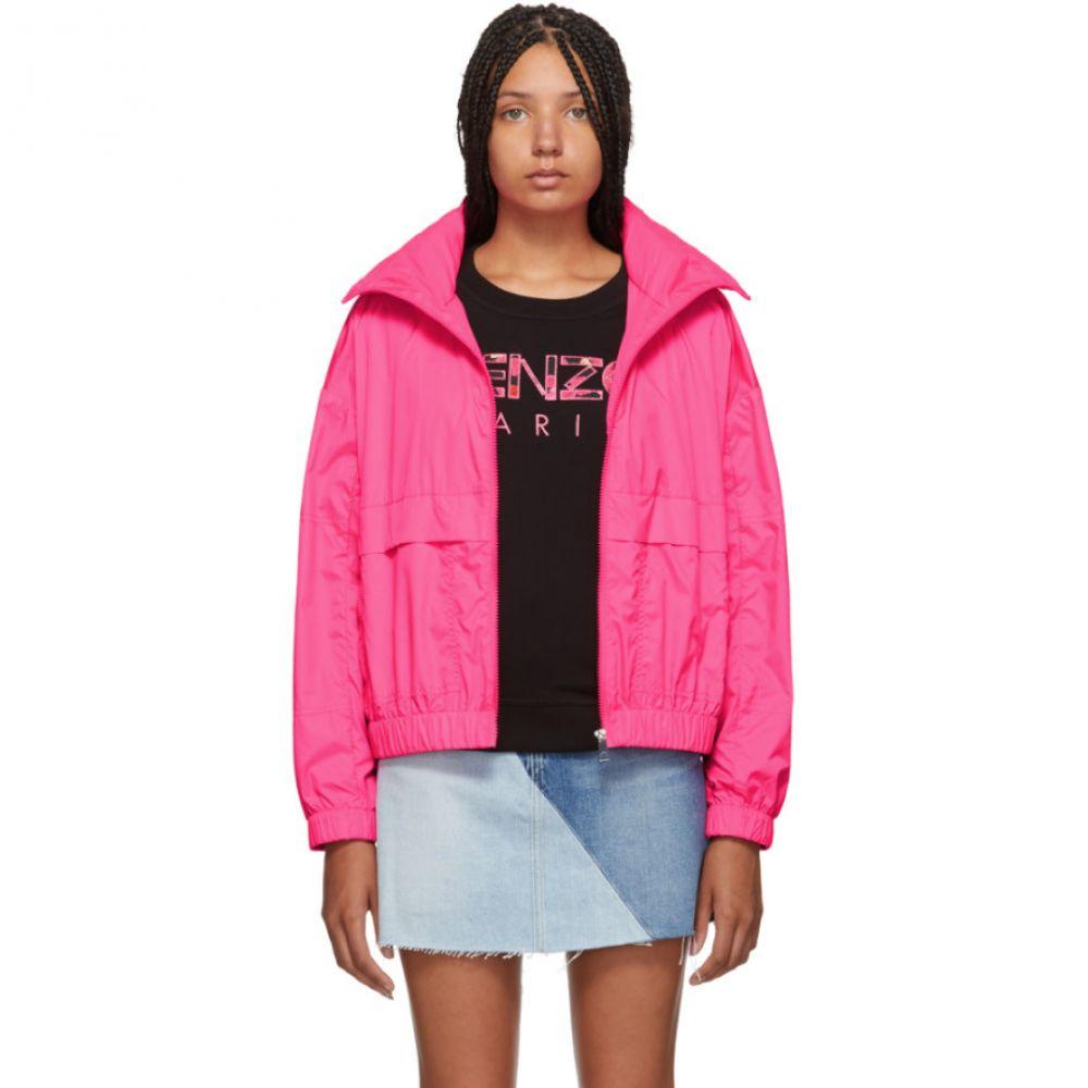 ケンゾー Kenzo レディース アウター ジャケット【Pink Logo Windbreaker Jacket】Deep fuchsia