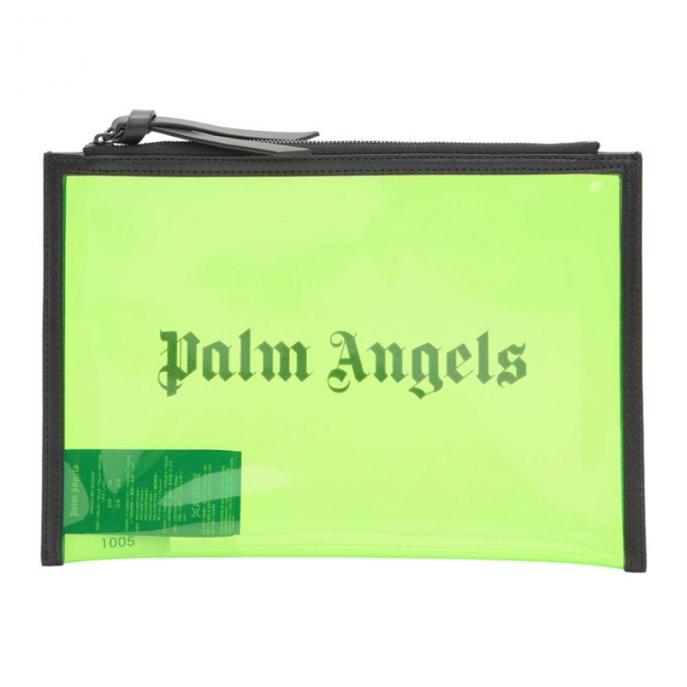 パーム エンジェルス Palm Angels メンズ ポーチ【Green Alien Pouch】Green
