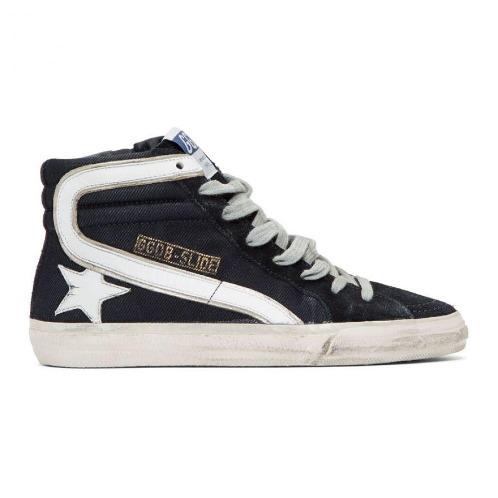 ゴールデン グース Golden Goose レディース シューズ・靴 スニーカー【Navy Slide High-Top Sneakers】Navy