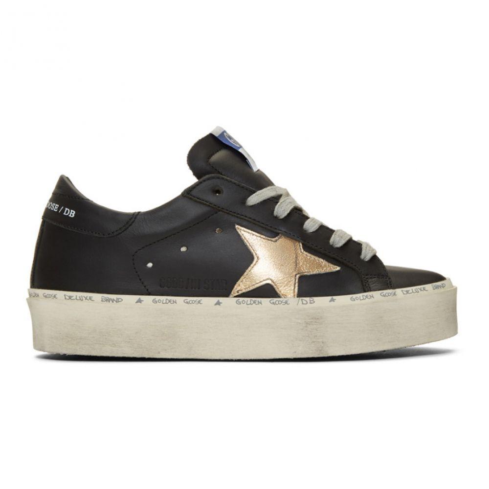 ゴールデン グース Golden Goose レディース シューズ・靴 スニーカー【Black & Gold Hi Star Sneakers】Black/Gold Star