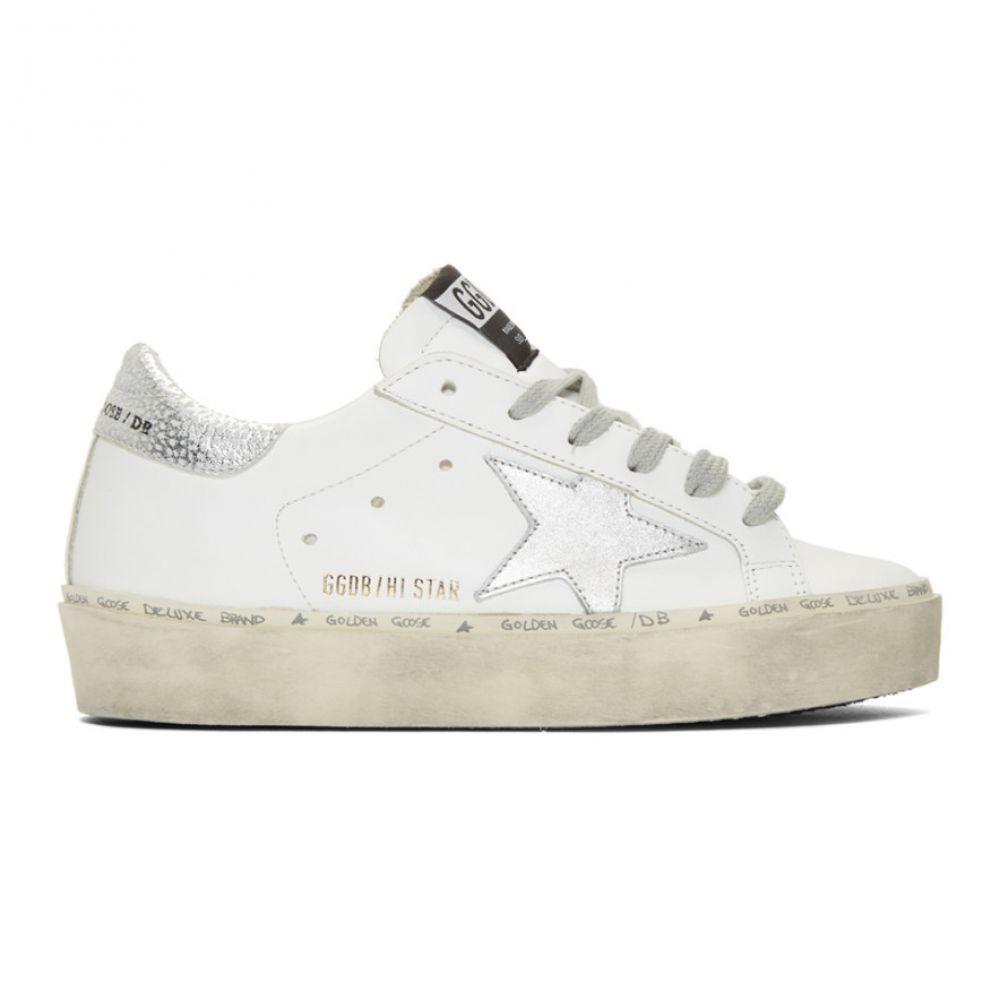 ゴールデン グース Golden Goose レディース シューズ・靴 スニーカー【White & Silver Hi Star Sneakers】White/Shiny star