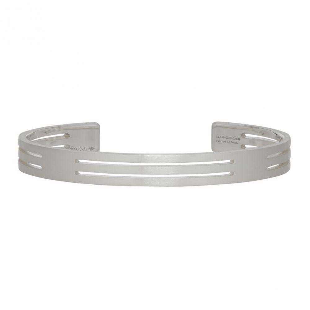 ルグラム Le Gramme メンズ ジュエリー・アクセサリー ブレスレット【Silver Punched 'Le 19 Grammes' Bracelet】