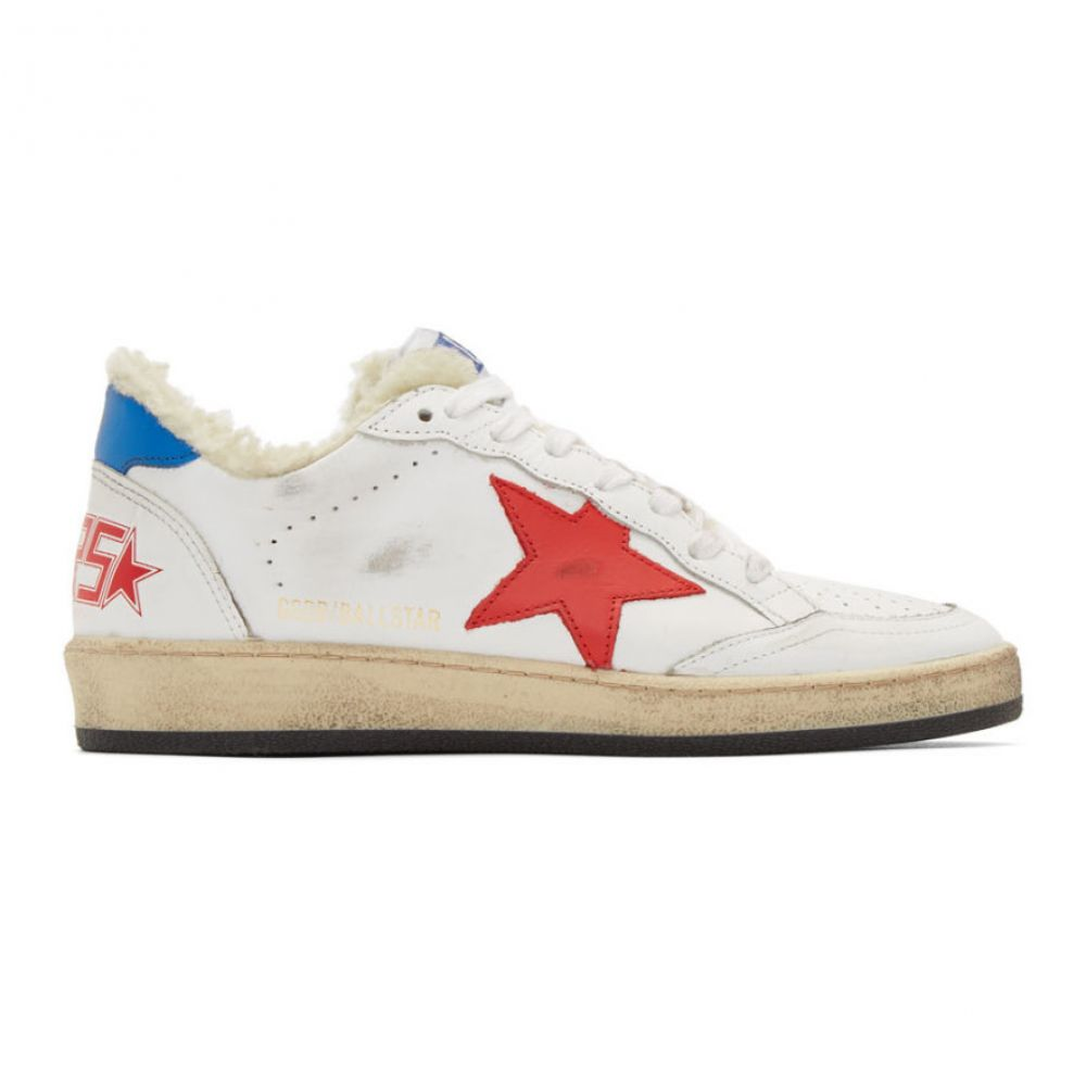 ゴールデン グース Golden Goose レディース シューズ・靴 スニーカー【White & Red Shearling Ball Star Sneakers】White/Red