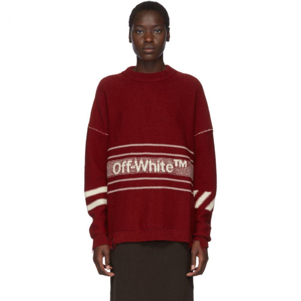 オフ-ホワイト レディース トップス ニット・セーター Red 【サイズ交換無料】 オフ-ホワイト Off-White レディース トップス ニット・セーター【SSENSE Exclusive Red Wool Logo Sweater】Red