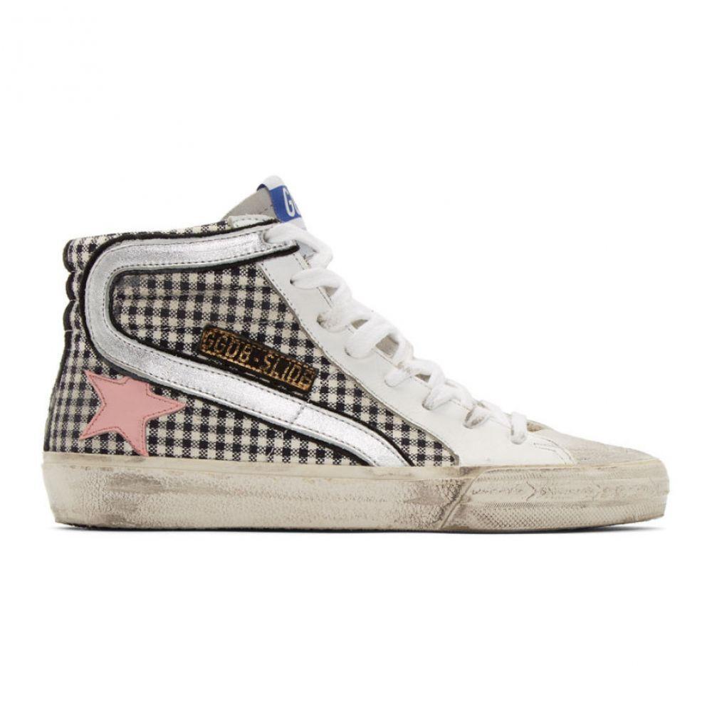 ゴールデン グース Golden Goose レディース シューズ・靴 スニーカー【White Check Slide Sneakers】White leather