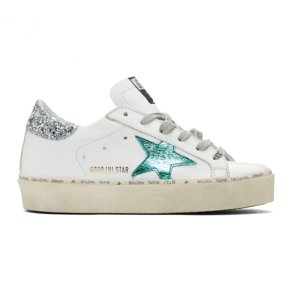 ゴールデン グース Golden Goose レディース シューズ・靴 スニーカー【White & Green Hi Star Sneakers】White