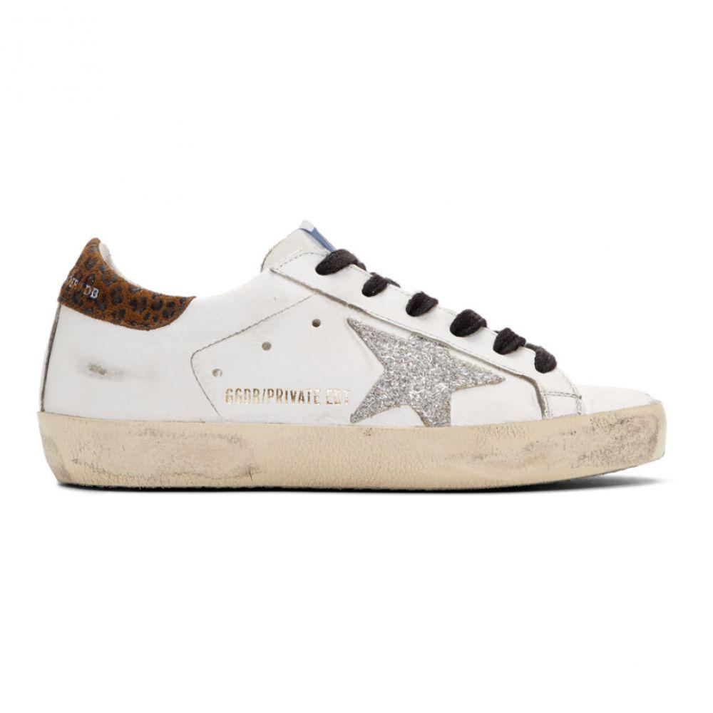 ゴールデン グース Golden Goose レディース シューズ・靴 スニーカー【SSENSE Exclusive White Leopard Superstar Sneakers】White leather/Leopard