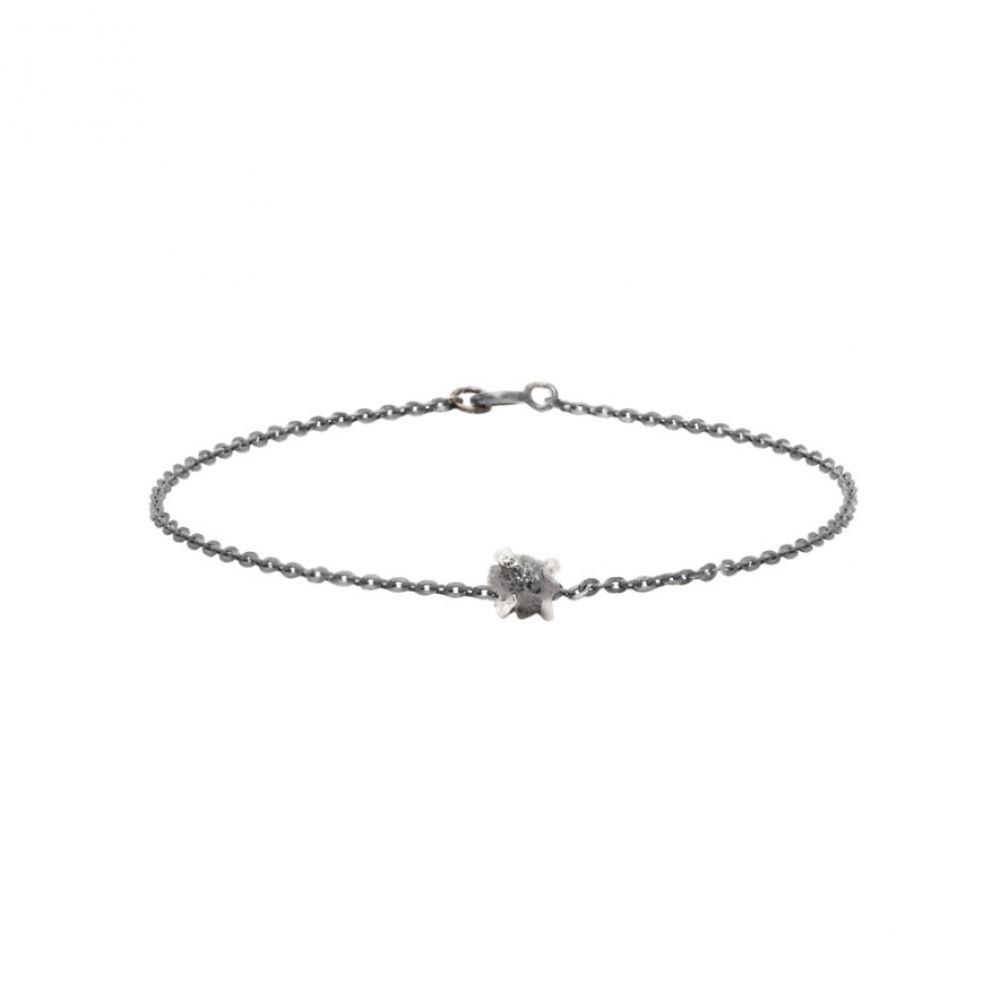 パールズ ビフォア スワイン Pearls Before Swine メンズ ジュエリー・アクセサリー ブレスレット【Gunmetal Raw Diamond Bracelet】