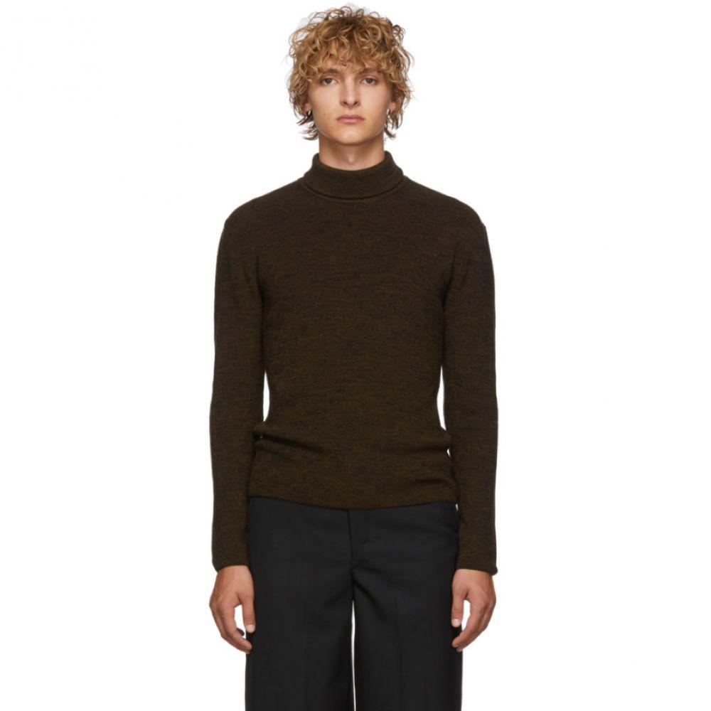 ルメール Lemaire メンズ トップス【Brown & Black Wool Turtleneck】Brown/Black