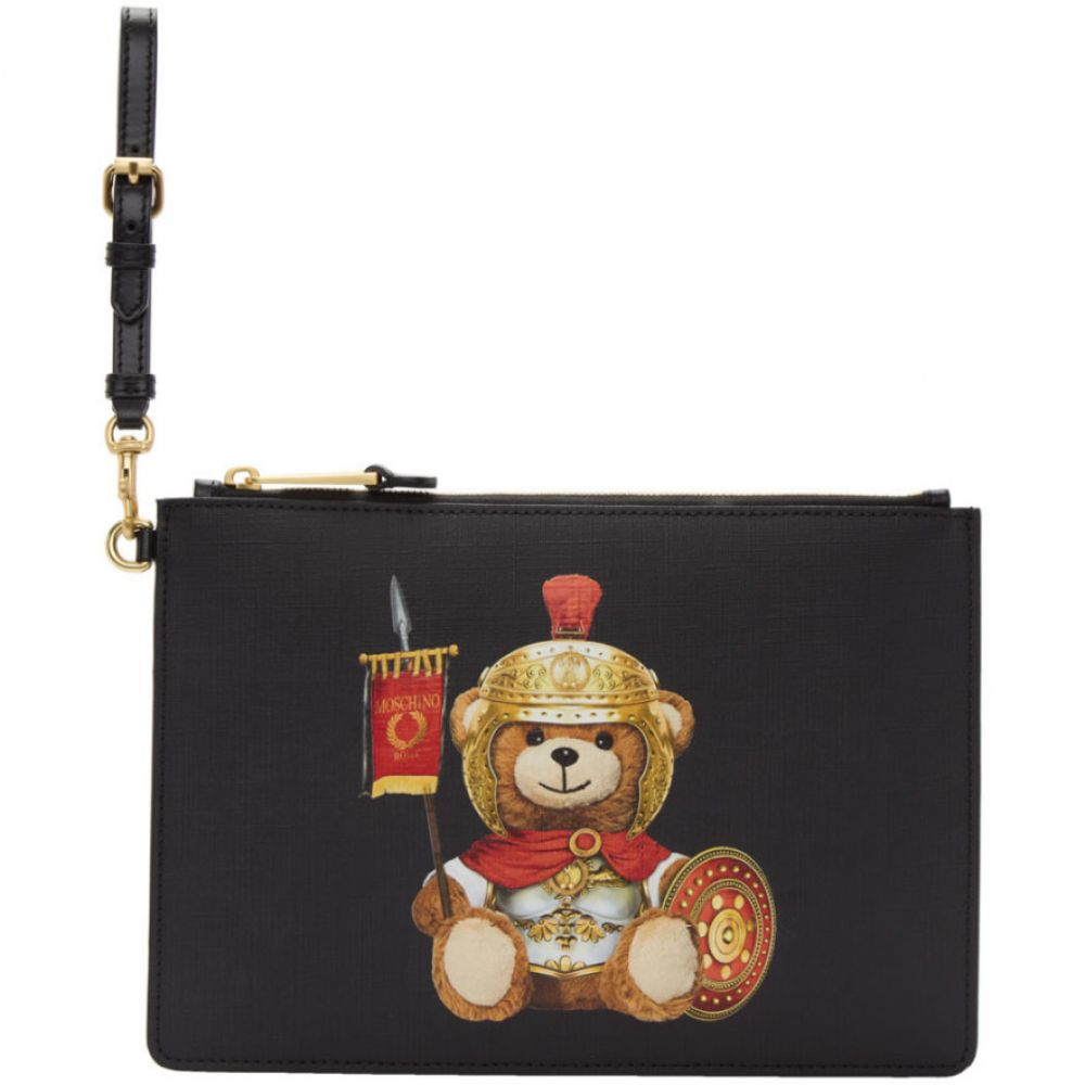 メンズ Teddy モスキーノ ポーチ【Black Pouch】Black Moschino Bear