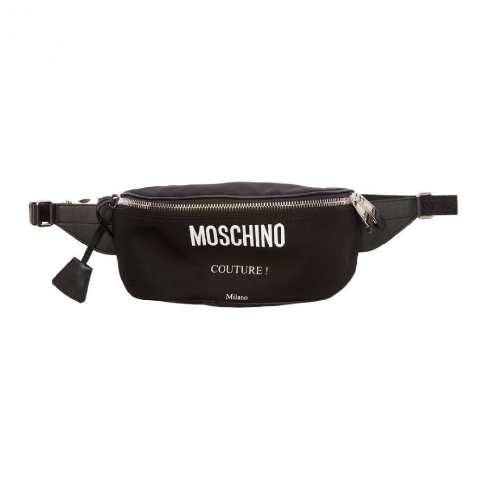 モスキーノ Moschino メンズ バッグ ボディバッグ・ウエストポーチ【Black 'Couture!' Fanny Pack】Black
