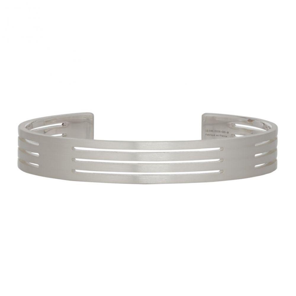 ルグラム Le Gramme メンズ ジュエリー・アクセサリー ブレスレット【Silver Punched 'Le 27 Grammes' Bracelet】