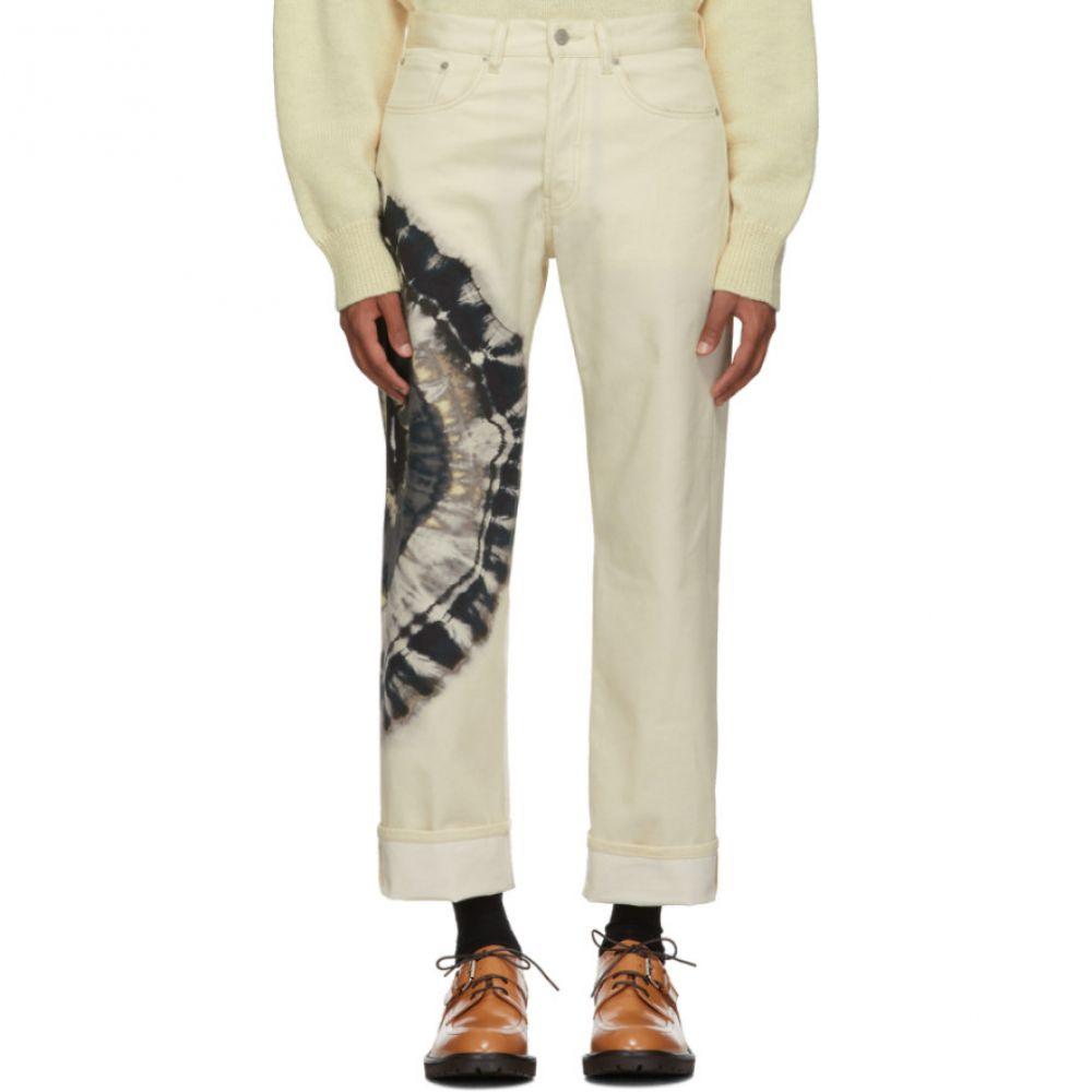 ドリス ヴァン ノッテン Dries Van Noten メンズ ボトムス・パンツ ジーンズ・デニム【Off-White Tie-Dye Panthero Jeans】Ecru