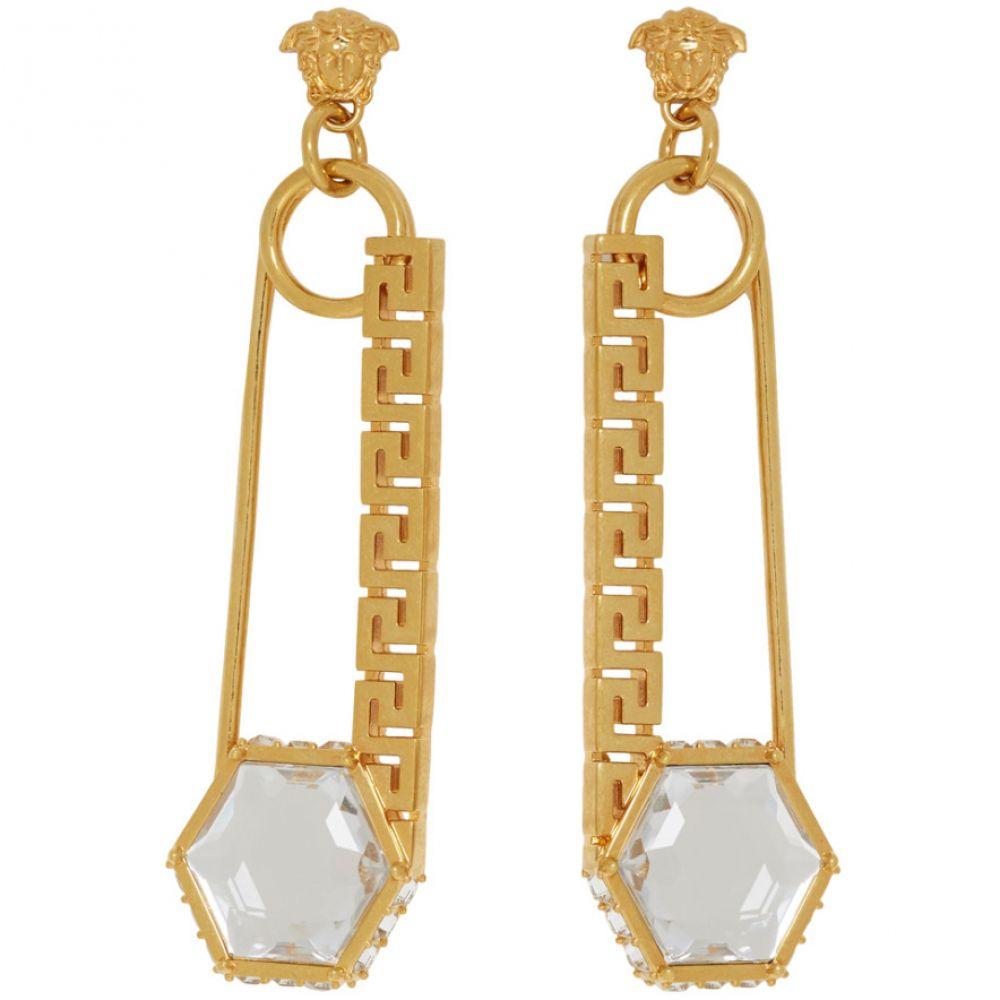 ヴェルサーチ Versace レディース ジュエリー・アクセサリー イヤリング・ピアス【Gold Safety Pin Earrings】Gold