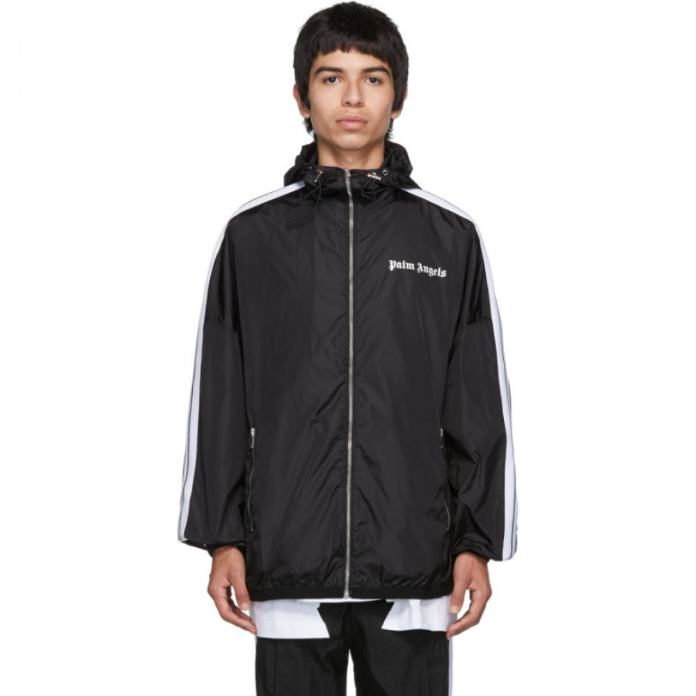 パーム エンジェルス Palm Angels メンズ アウター ジャージ【Black & White Track Windbreaker Jacket】Black/White