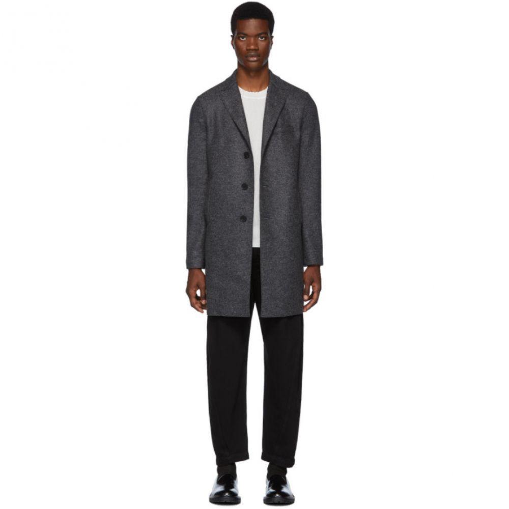 ハリスワーフロンドン Harris Wharf London メンズ アウター コート【Grey Pressed Boxy Coat】Melange anthracite