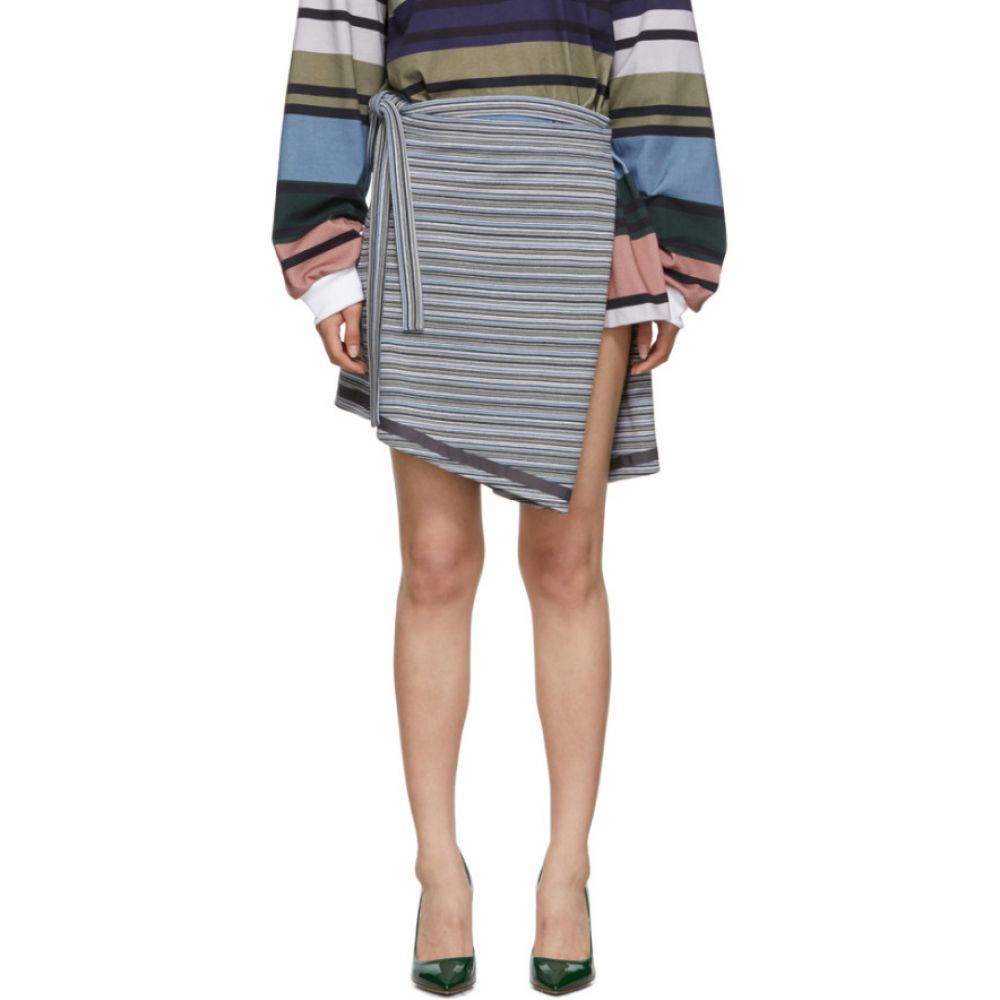 ワイプロジェクト Y/Project レディース スカート ミニスカート【Grey Wrap Miniskirt】Grey