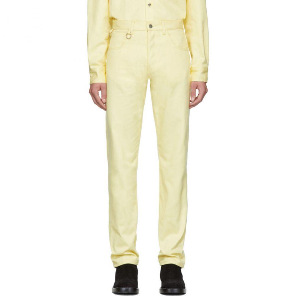 ラフ シモンズ Raf Simons メンズ ボトムス・パンツ ジーンズ・デニム【Yellow Two Ring Regular Fit Jeans】Pastel yellow