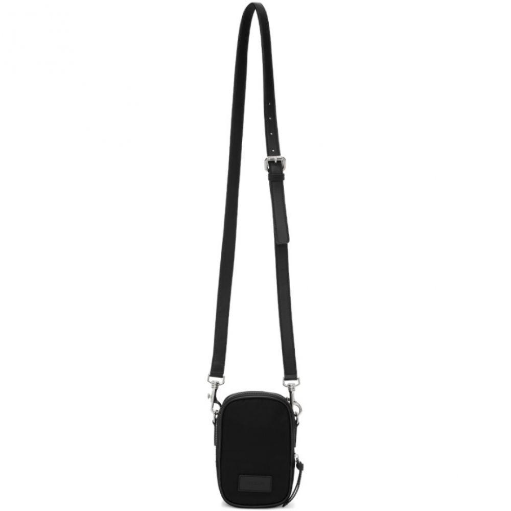 ヴェルサーチ Versace メンズ ポーチ【Black Mini Zip Pouch】Black/Palladium