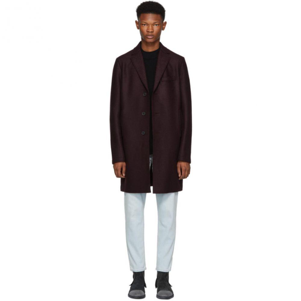 ハリスワーフロンドン Harris Wharf London メンズ アウター コート【Burgundy Pressed Boxy Coat】