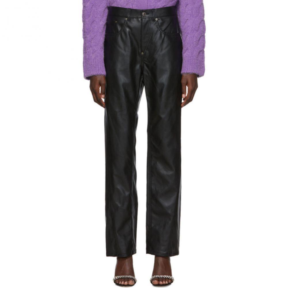 プッシュボタン Pushbutton レディース ボトムス・パンツ【Black Corseted Back Straight Trousers】Black