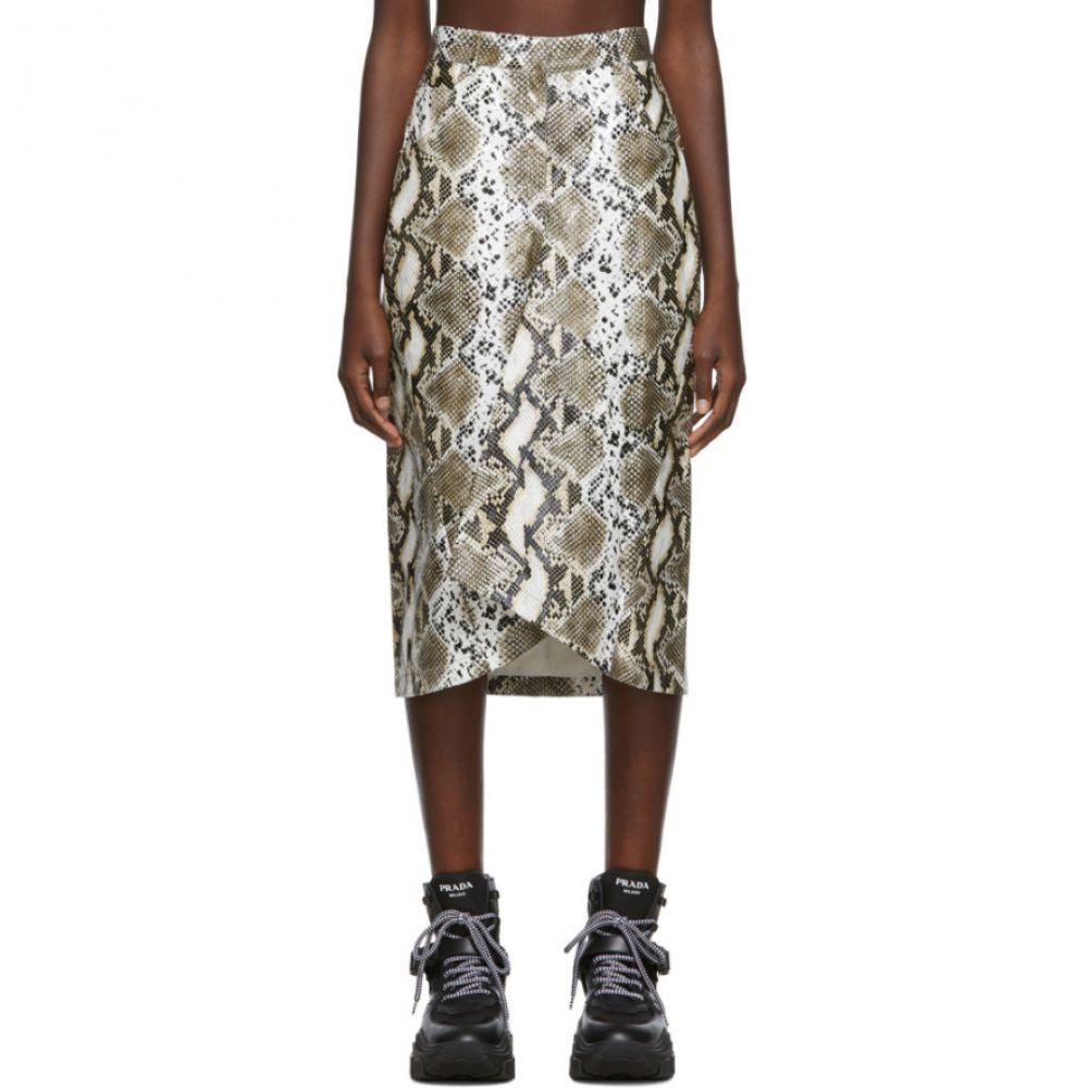 プッシュボタン Pushbutton レディース スカート【Beige Cone H-Line Skirt】Beige