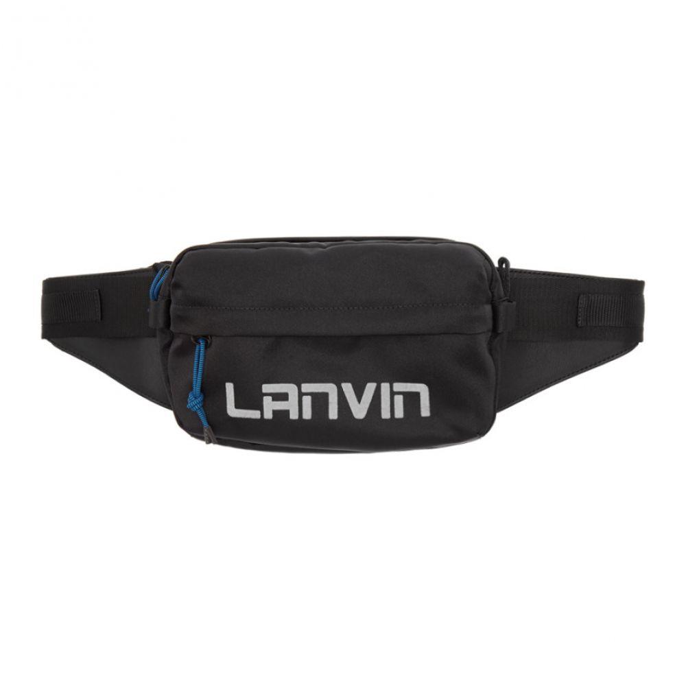 ランバン Lanvin メンズ バッグ ボディバッグ・ウエストポーチ【Black Crossbody Bum Bag】Black