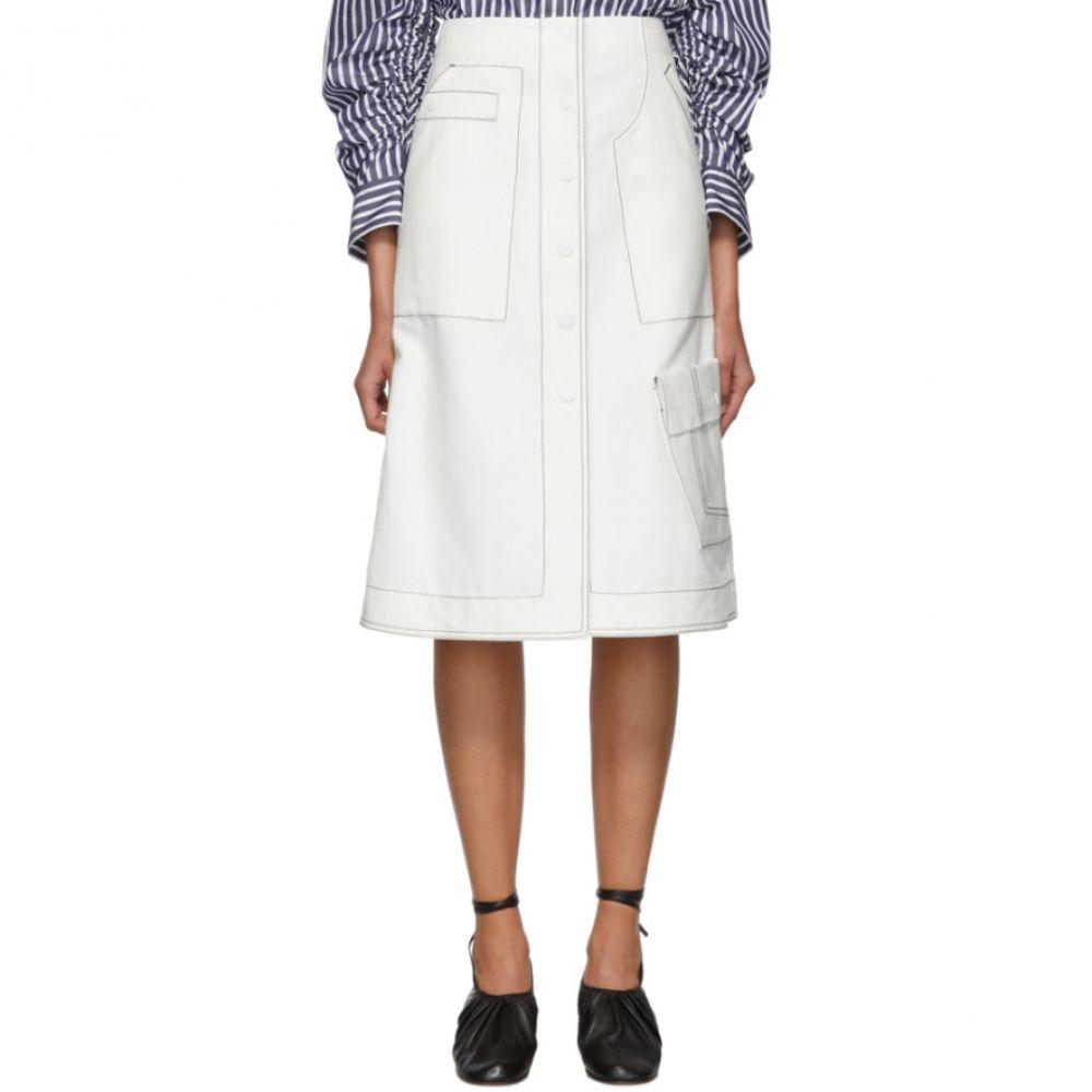 スリーワン フィリップ リム 3.1 Phillip Lim レディース スカート【Off-White High-Waisted Twill Skirt】Off-white