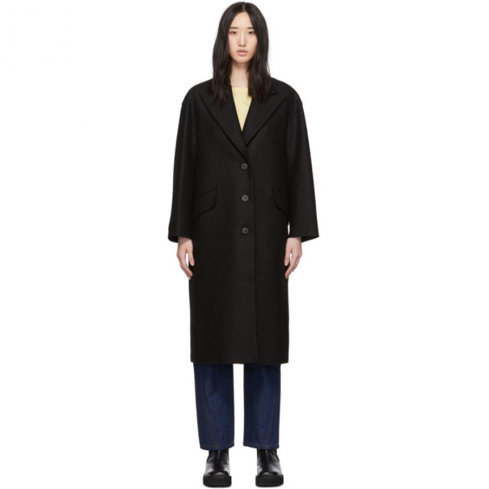 ハリスワーフロンドン Harris Wharf London レディース アウター コート【Black Pressed Wool Oversized Great Coat】Black