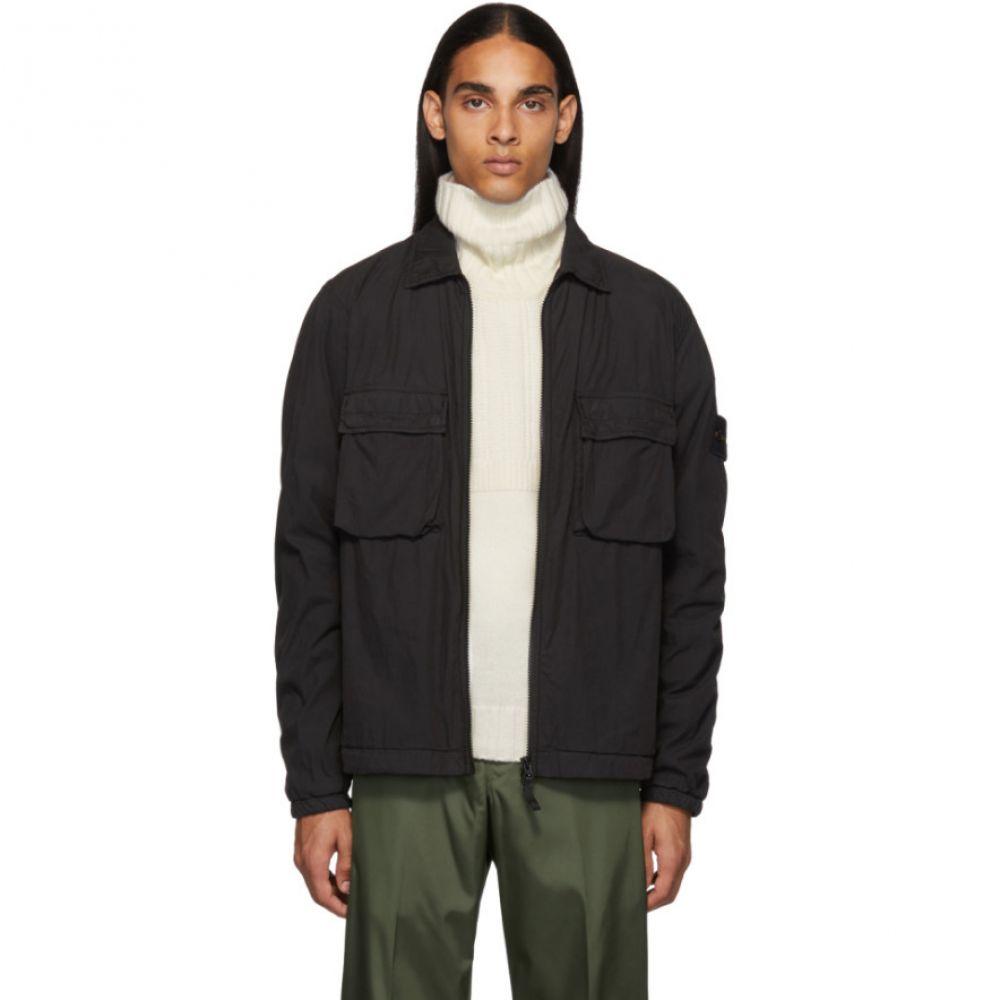 ストーンアイランド Stone Island メンズ アウター ジャケット【Black Overshirt Jacket】Black