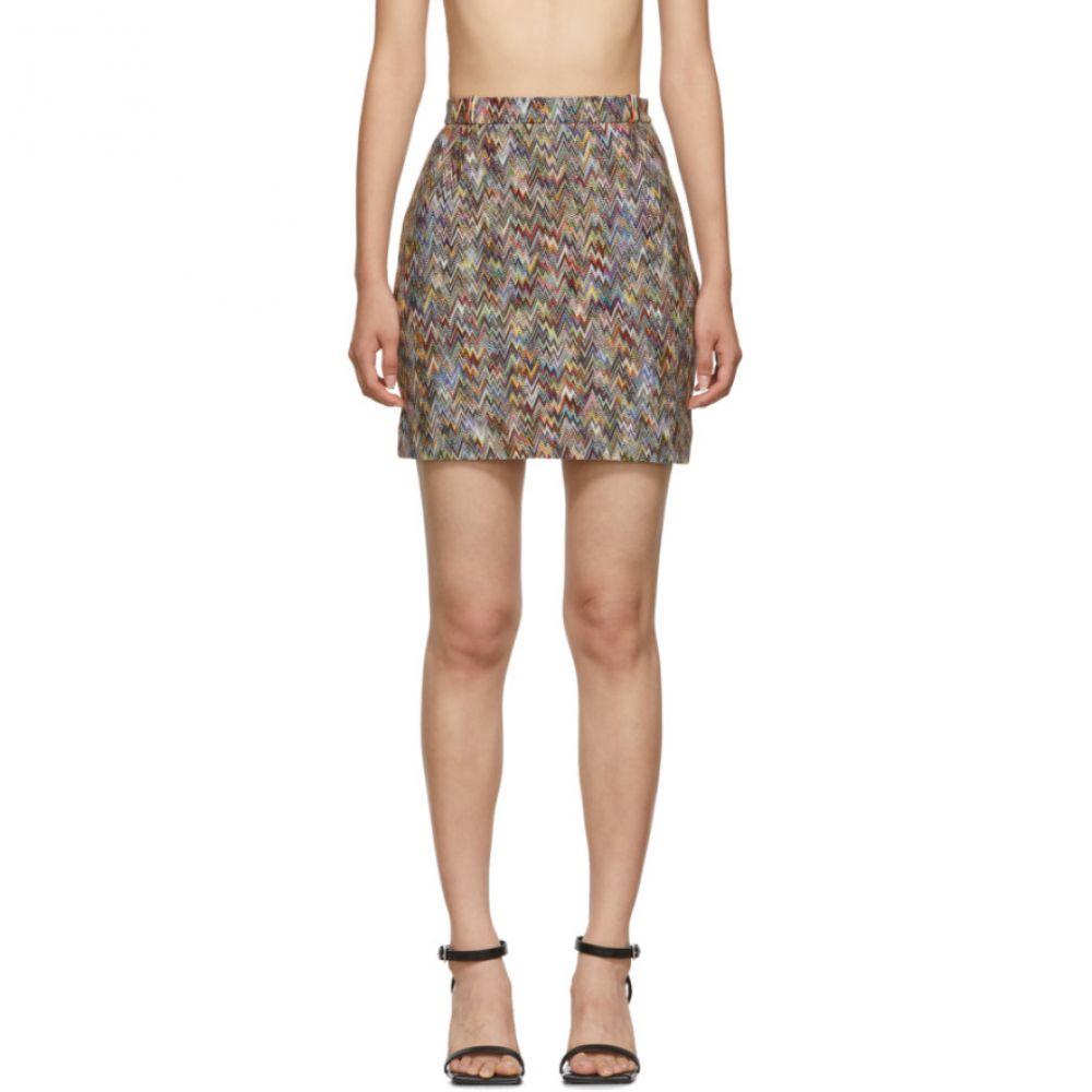 ミッソーニ Missoni レディース スカート ミニスカート【Multicolor Zig Zag Miniskirt】Multi