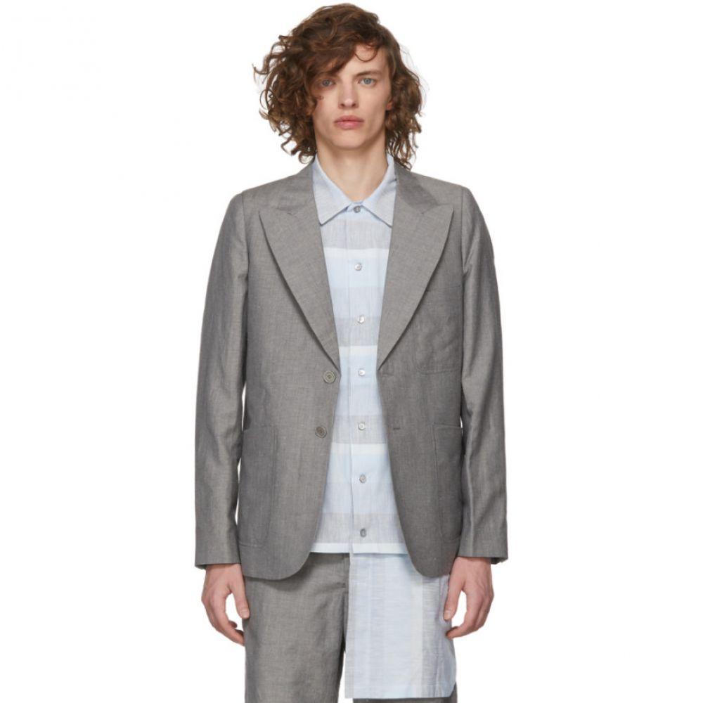 ハウスオブザベリーアイランズ House of the Very Islands メンズ アウター スーツ・ジャケット【Grey Slim-Fit Tailored Blazer】
