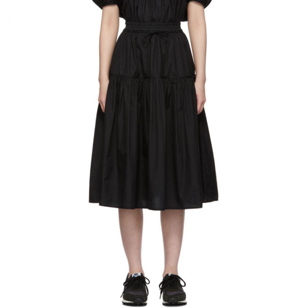 セシル バンセン Cecilie Bahnsen レディース スカート【Black Voluminous Adea Skirt】Black