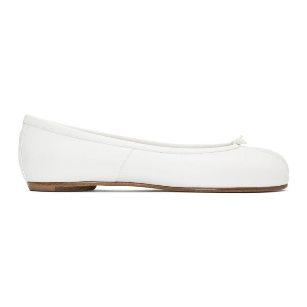 メゾン マルジェラ Maison Margiela レディース シューズ・靴 スリッポン・フラット【White Tabi Ballerina Flats】White