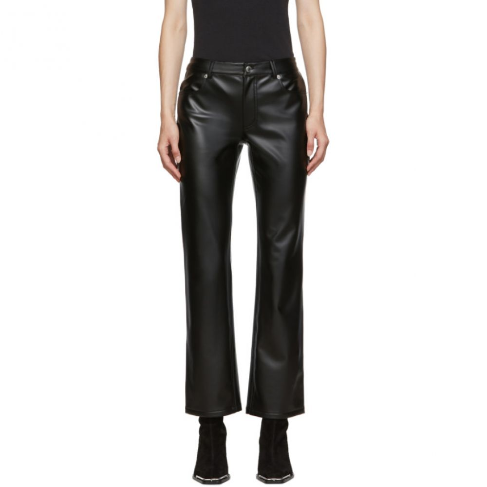 アレキサンダー ワン Alexander Wang レディース ボトムス・パンツ【Black Stretch Faux-Leather Trousers】Black