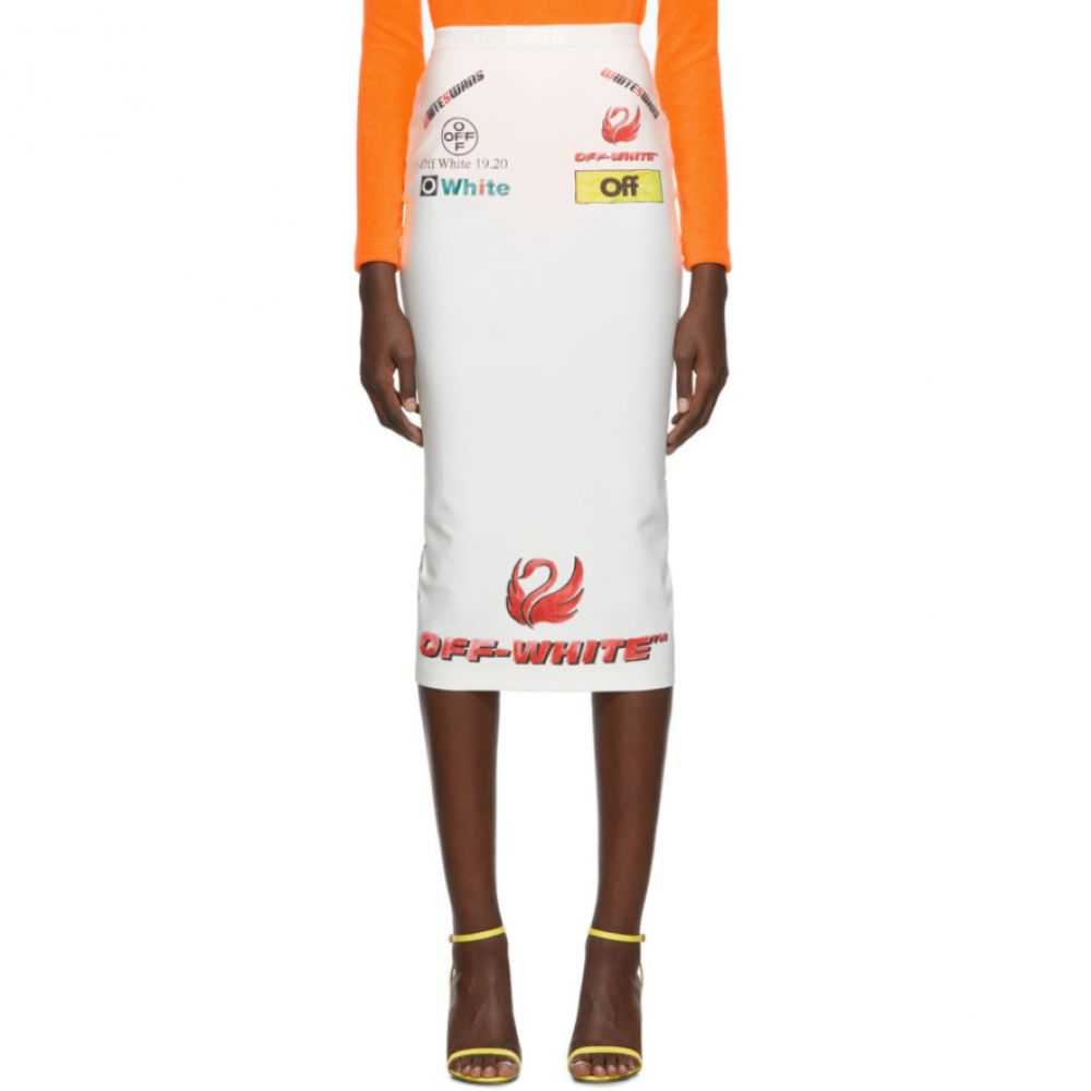 オフ-ホワイト Off-White レディース スカート【Multi-Logo Sporty Skirt】White multicolor