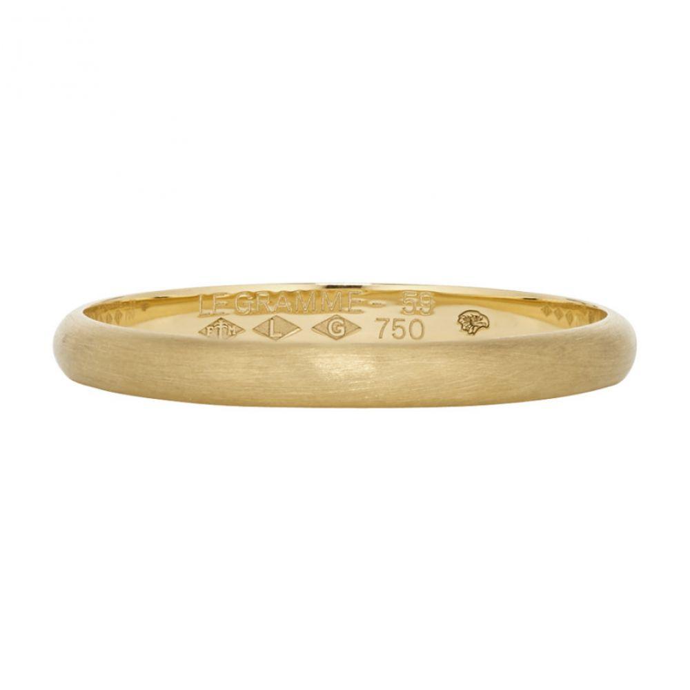 ルグラム Le Gramme メンズ ジュエリー・アクセサリー 指輪・リング【Gold 2G Half Bangle Wedding Ring】