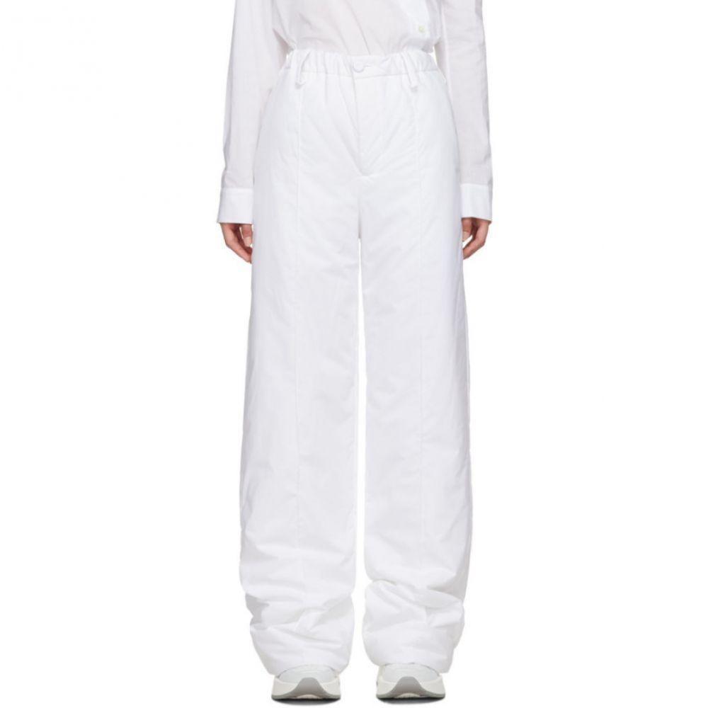メゾン マルジェラ MM6 Maison Margiela レディース ボトムス・パンツ【White Padded Trousers】White