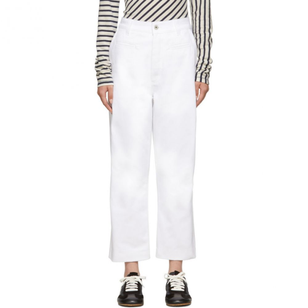 ロエベ Loewe レディース ボトムス・パンツ ジーンズ・デニム【White Fisherman Jeans】White